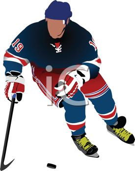 275x350 Image Of A Ice Hockey Player Playing Hockey In A Vector Clip Art