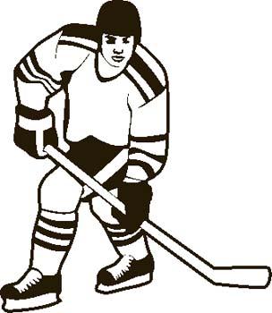 304x350 Clipart Hockey