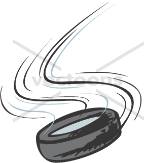284x320 Creative Ice Hockey Puck Illustration In Action