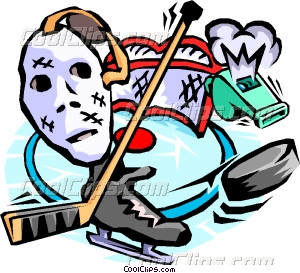 300x273 Hockey, Goalie Mask, Stick, Whistle Vector Clip Art
