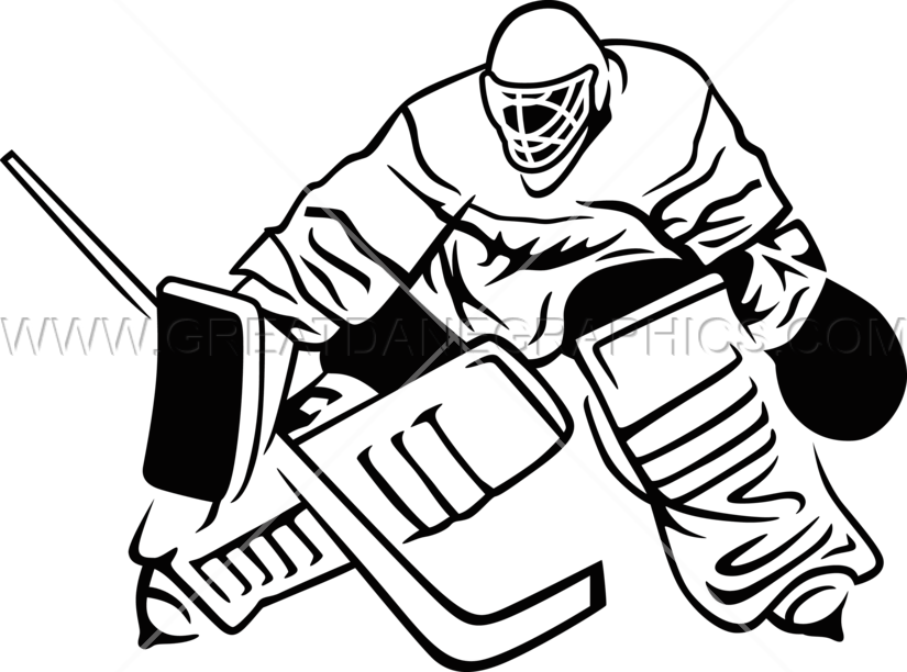 825x612 Hockey Goalie Blocku Production Ready Artwork For T Shirt Printing