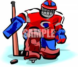 300x257 Hockey Goalie Clip Art Image