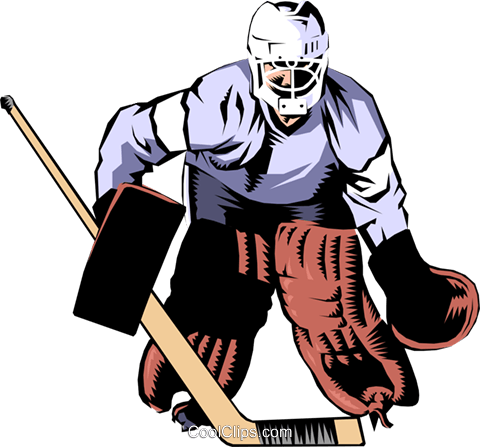 480x447 Hockey Goalie Royalty Free Vector Clip Art Illustration Peop0988