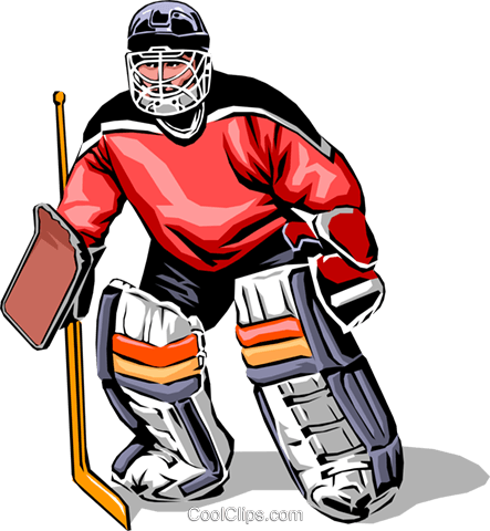 443x480 Hockey Goalie Royalty Free Vector Clip Art Illustration Peop0028