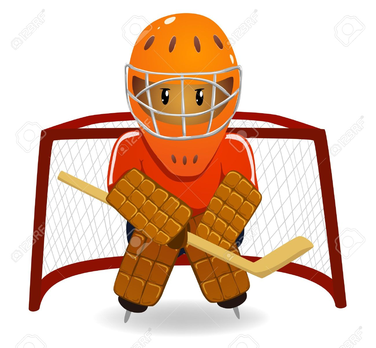 1300x1202 Hockey Goalie Clipart