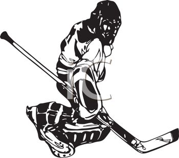 350x309 Black And White Hockey Goalie