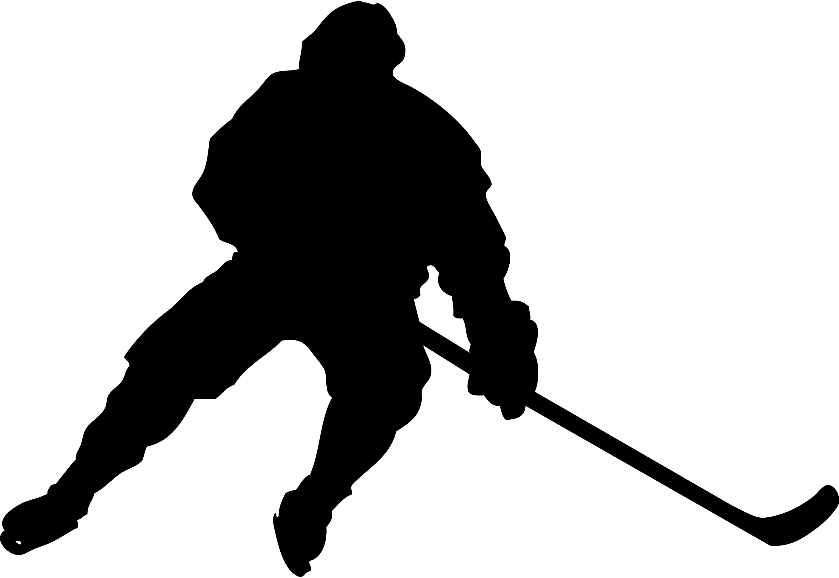 2810x1935 Silhouette Clipart Hockey