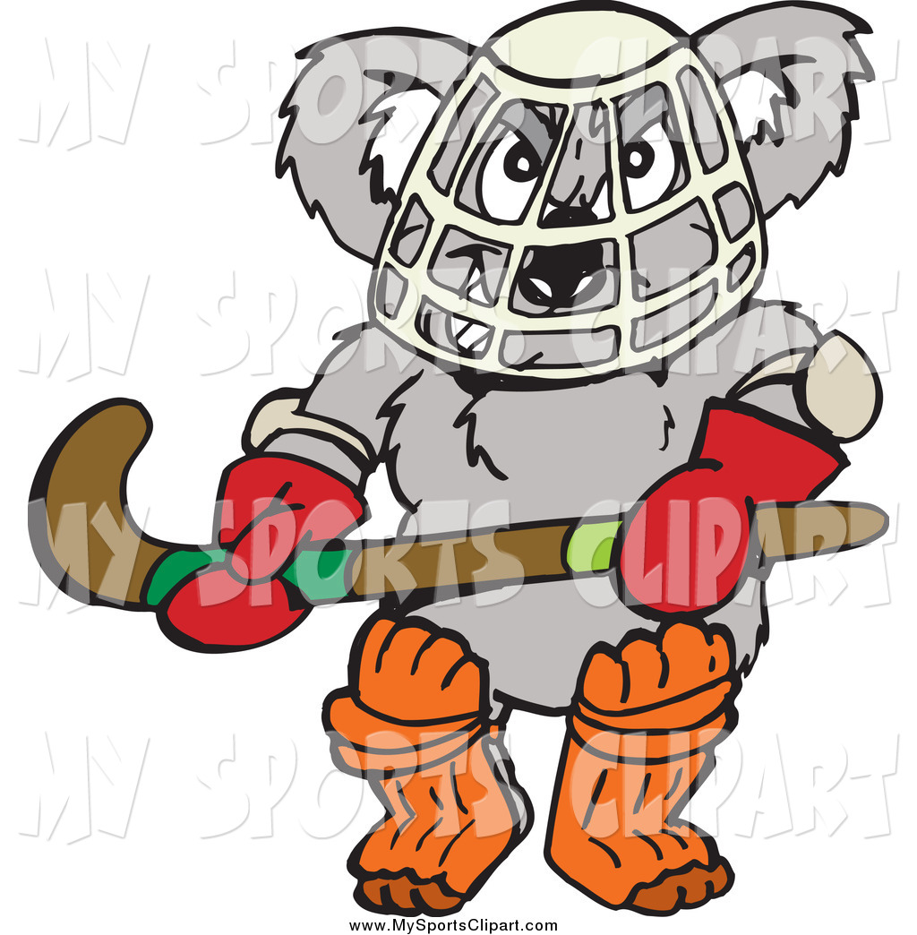 1024x1044 Sports Clip Art Of A Koala Hockey Goalie By Dennis Holmes Designs