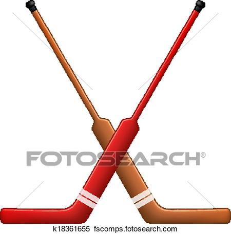 450x457 Clipart Of Crossed Hockey Sticks For Goalies K18361655
