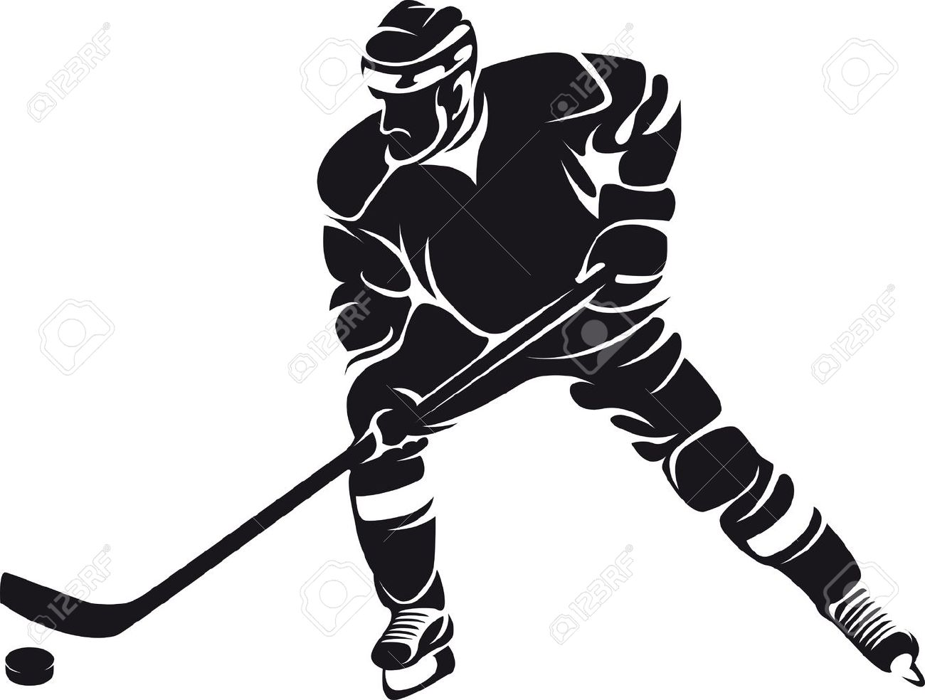 1300x984 Hockey Player, Silhouette Royalty Free Cliparts, Vectors,