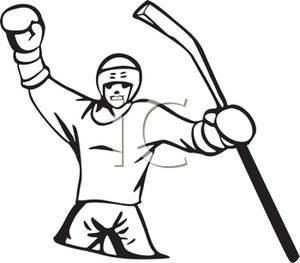 300x263 Hockey Player Celebrating A Win
