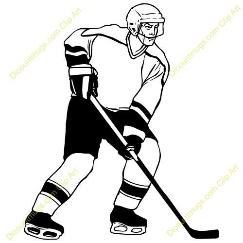500x500 Hockey Player Clip Art Many Interesting Cliparts