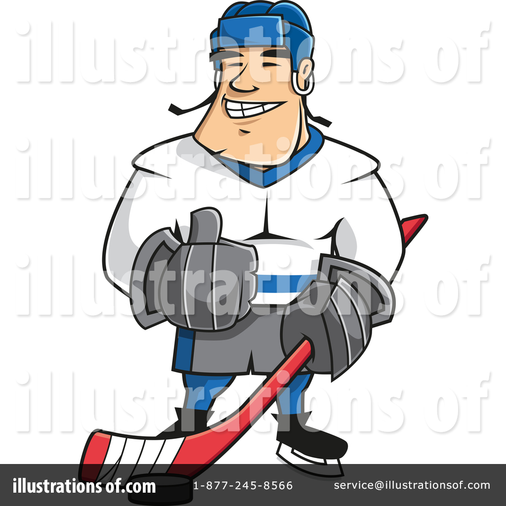 1024x1024 Hockey Player Clipart