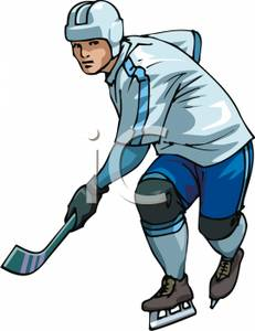 231x300 Hockey Player Clipart Picture
