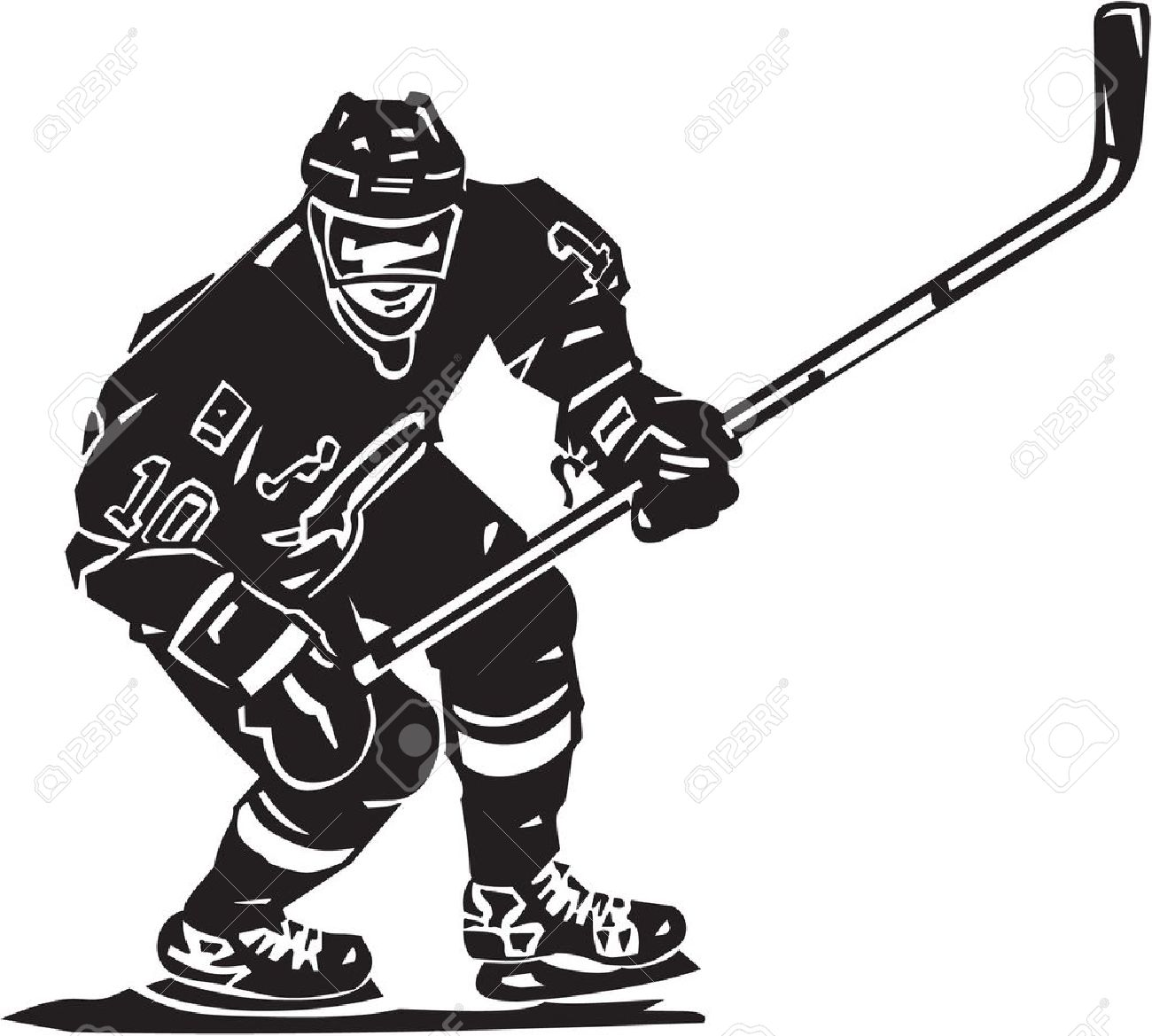 1300x1169 Hockey Player Clipart