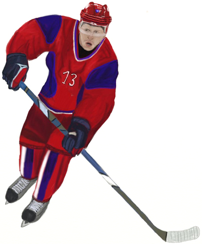 400x483 How To Draw A Hockey Player