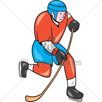 325x325 Ice Hockey Player Gl Stock Images