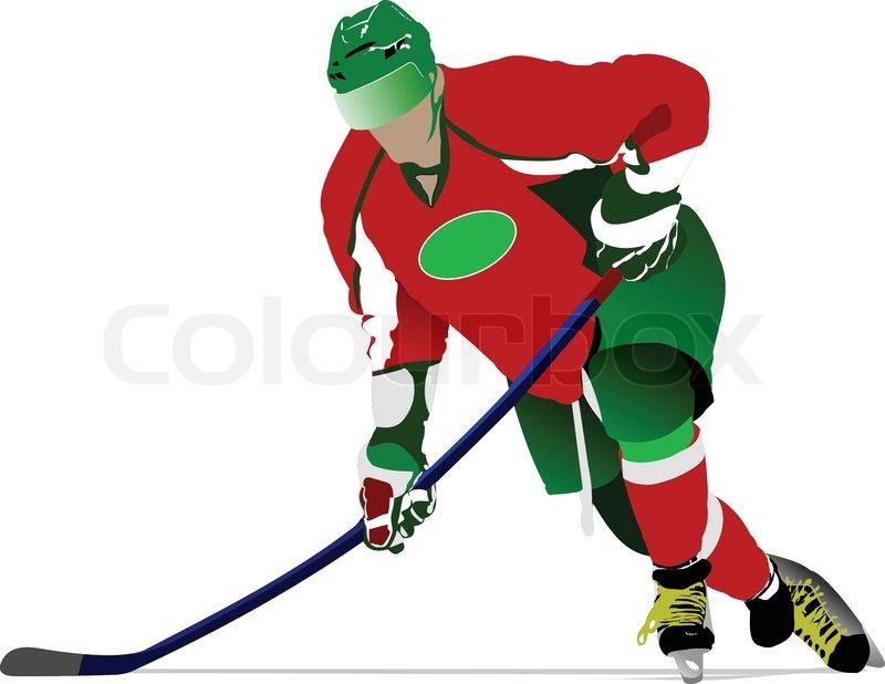800x618 Ice Hockey Players. Vector Illustration Stock Vector Colourbox