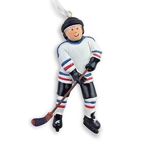 463x463 Hockey Player Christmas Ornament Hockey Ornaments By