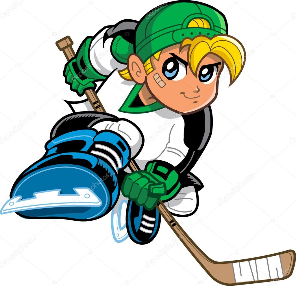 1024x990 Anime Manga Hockey Player Stock Vector Kennyk