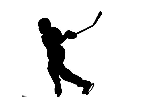600x421 Hockey Silhouette Clipart 1975862