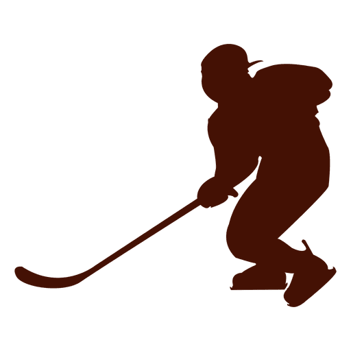 512x512 Hockey Ice Player Silhouette