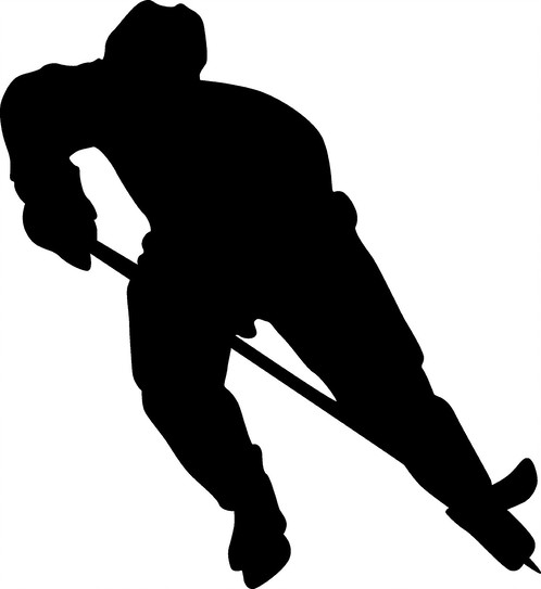 498x543 6 Hockey Player Decal Home Monograms By Sutton