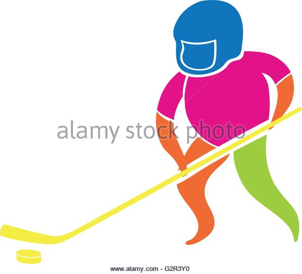 596x540 Playing Hockey Stock Vector Images