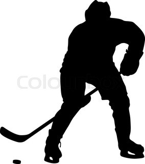 284x320 Silhouettes Of Hockey Player Goalkeeper Stock Vector Colourbox