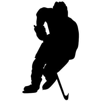 350x350 Hockey Wall Sticker Decal 5