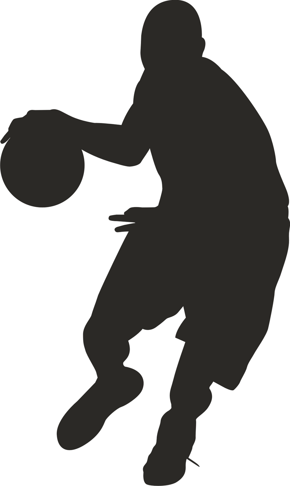 955x1600 Basketball Player Silhouette