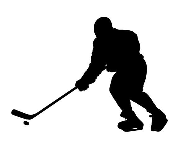 557x480 Big Collection Of Vector Ice Hockey Players Silhouettes. Sports