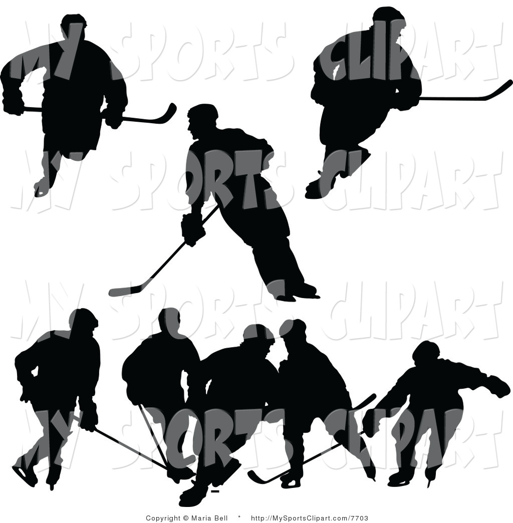1024x1044 Hockey Player Silhouette Clipart
