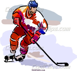 300x278 Hockey Player Vector Clip Art