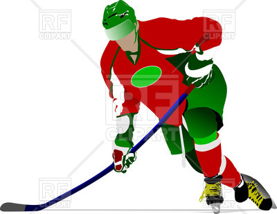 400x309 Running Ice Hockey Player Royalty Free Vector Clip Art Image