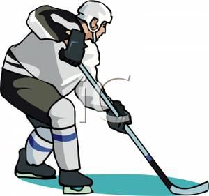 300x281 Art Image A Man Playing Ice Hockey