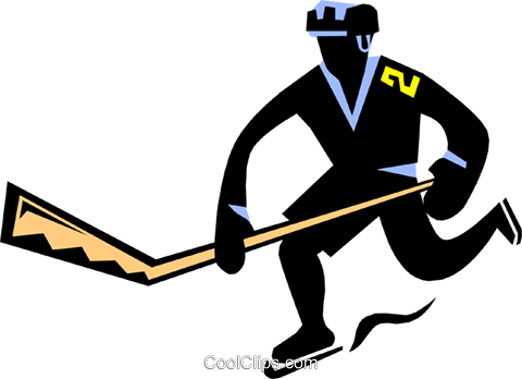 480x348 Hockey Player Royalty Free Vector Clip Art Illustration Peop1740