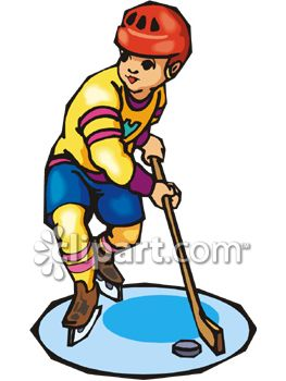263x350 Boy Playing Ice Hockey