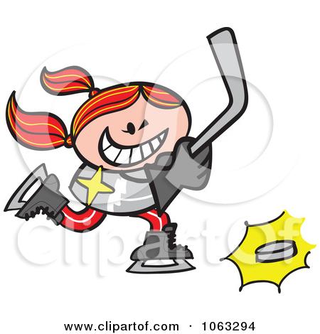 450x470 Cartoon Hockey Player Clipart