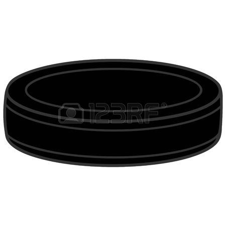 450x450 Hockey Puck With Flames Royalty Free Cliparts, Vectors, And Stock