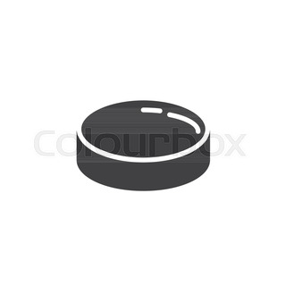 320x320 Hockey Puck Vector Sketch Icon Isolated On Background. Hand Drawn