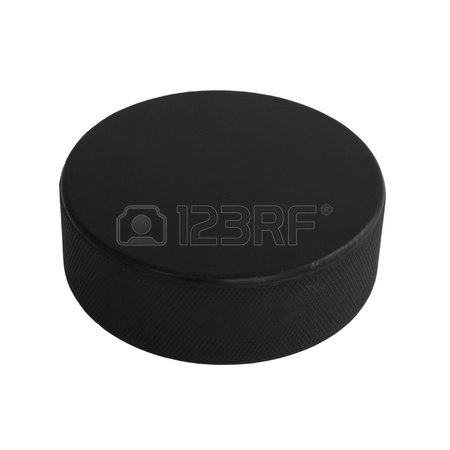 450x450 Hot Hockey Puck In Fires Flame Stock Photo, Picture And Royalty