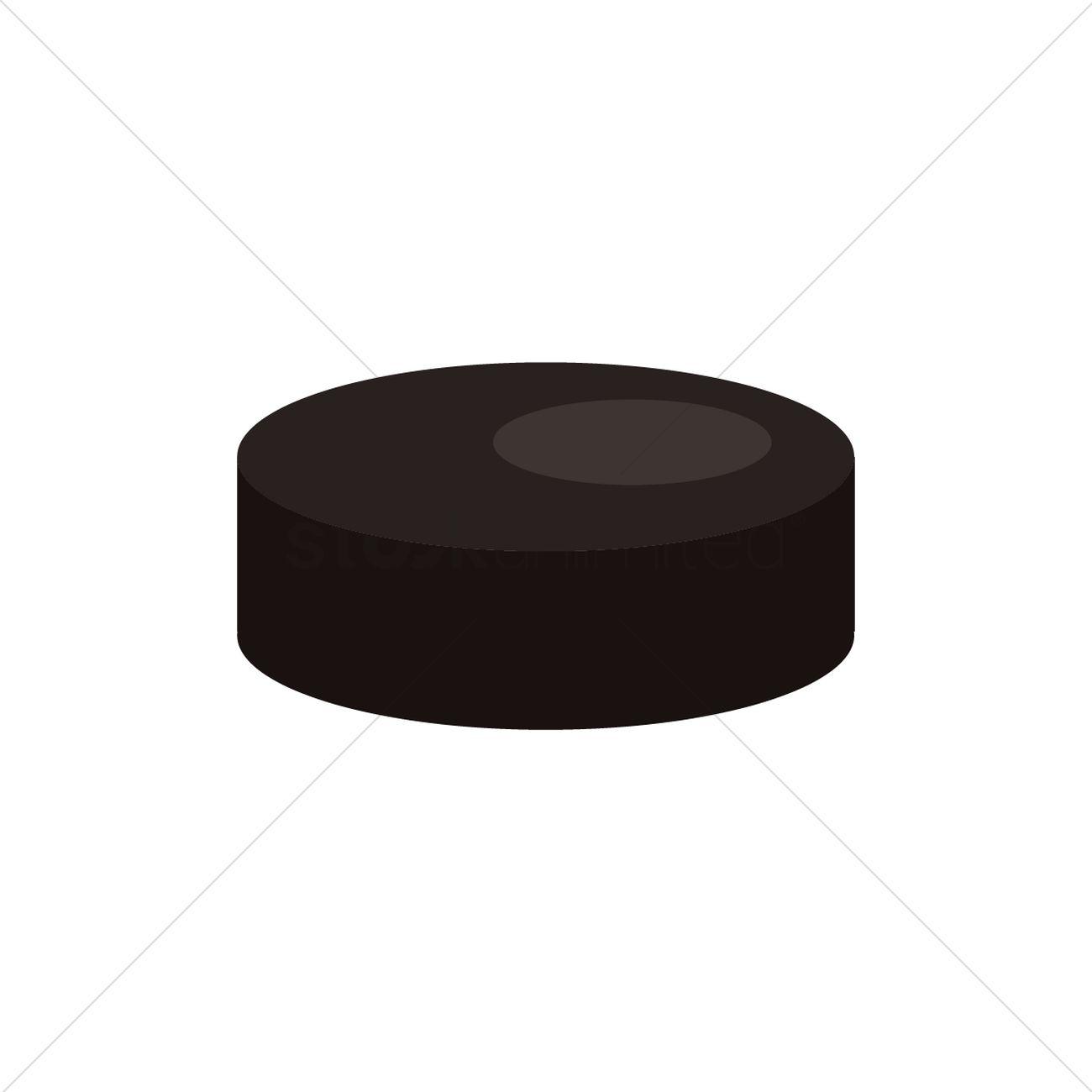 1300x1300 Ice Hockey Puck Vector Image