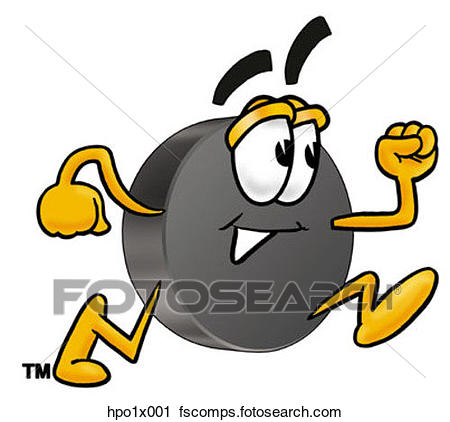450x422 Clipart Of Hockey Puck Running Hpo1x001
