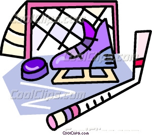 300x267 Hockey Equipment Vector Clip Art