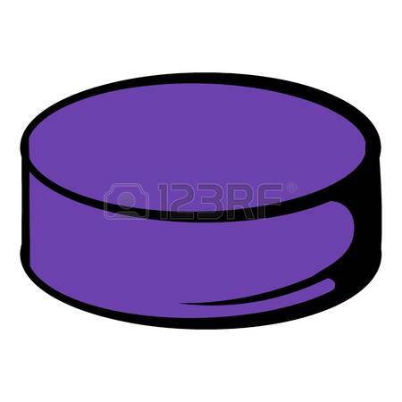 450x450 Ice Hockey Puck Icon, Flat Style Royalty Free Cliparts, Vectors