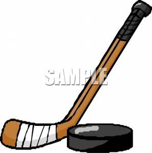298x300 Image A Hockey Puck And Stick