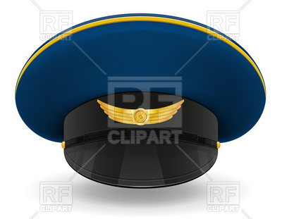 400x311 Professional Uniform Cap Or Pilot Royalty Free Vector Clip Art