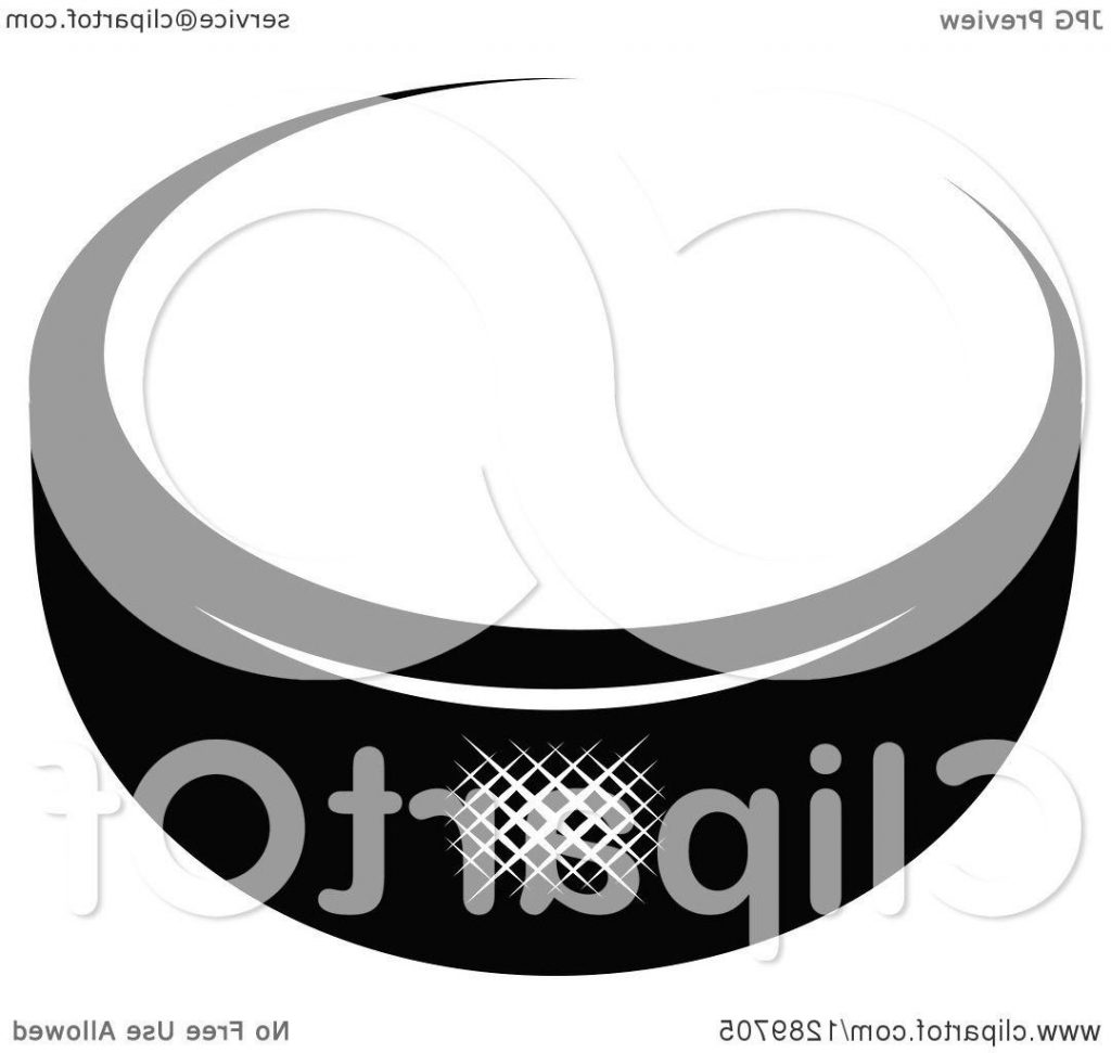 1024x971 Best Hd Clipart Of Black And White Hockey Puck Royalty Free Vector