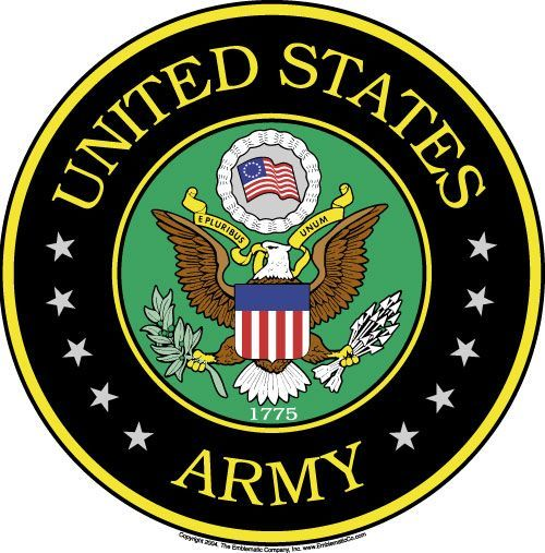 500x507 Army Emblem Clip Art Army Emblem Usa Military, Hockey Puck